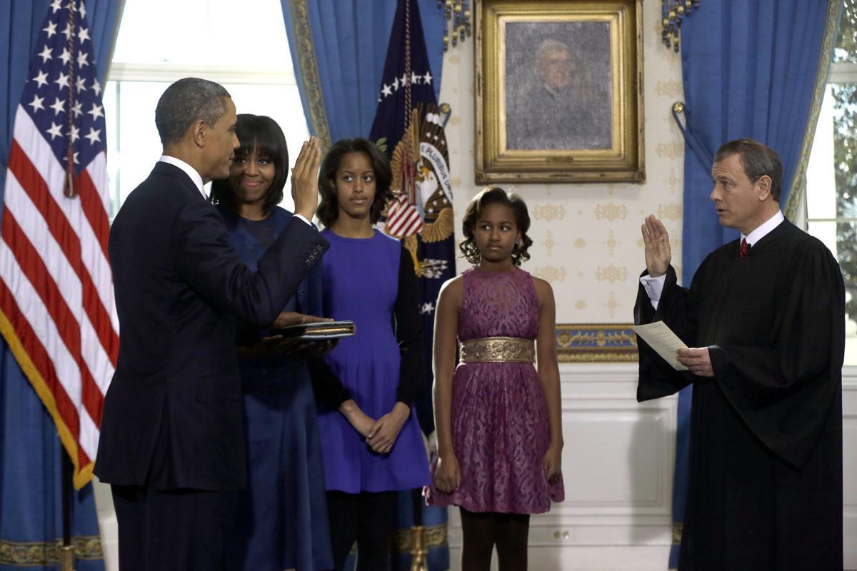 Barack Obama, sworn-in