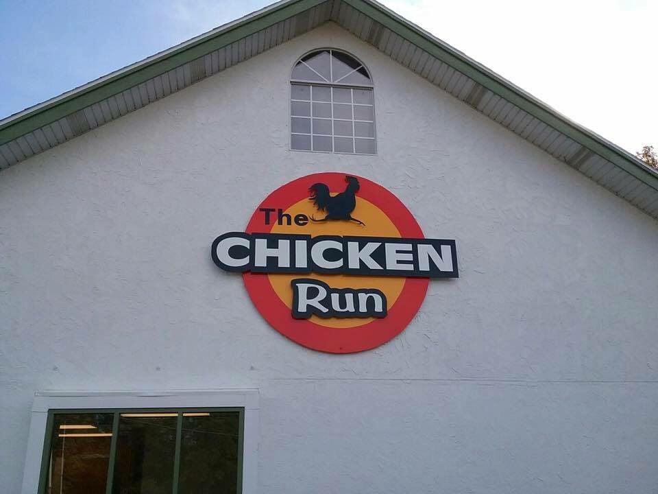 Chicken Run sign