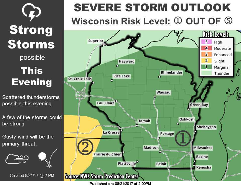 Severe thunderstorms possible into evening, night