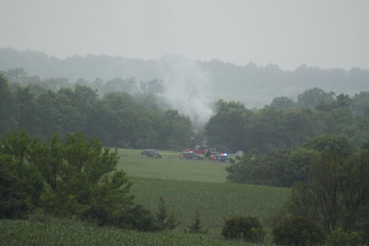 Monroe plane crash scene