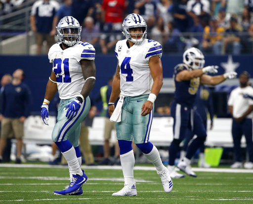 Dak Prescott, Ezekiel Elliott, AP photo