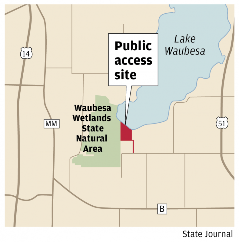 Waubesa access map
