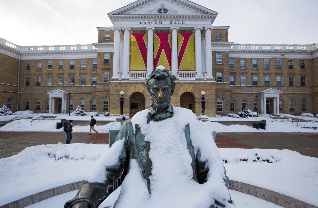 Snowy Abe on Bascom
