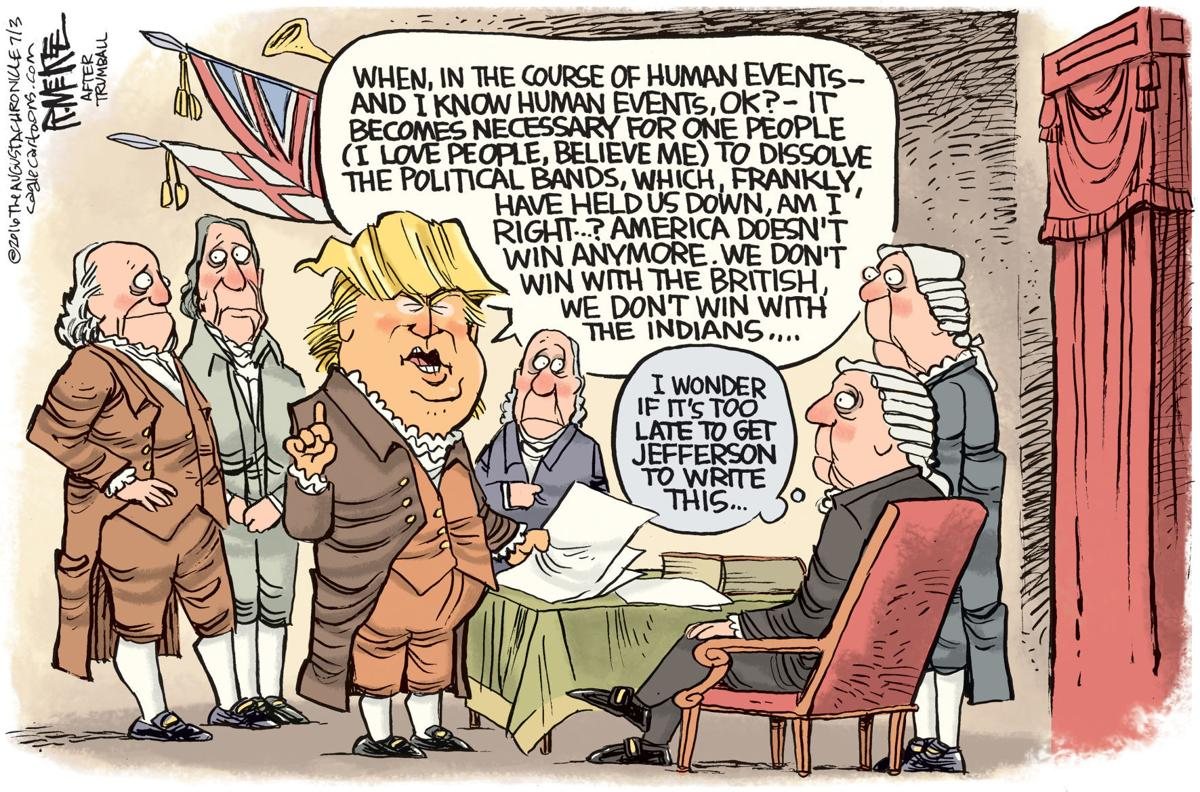 Trump Writes The Declaration Of Independence In Rick