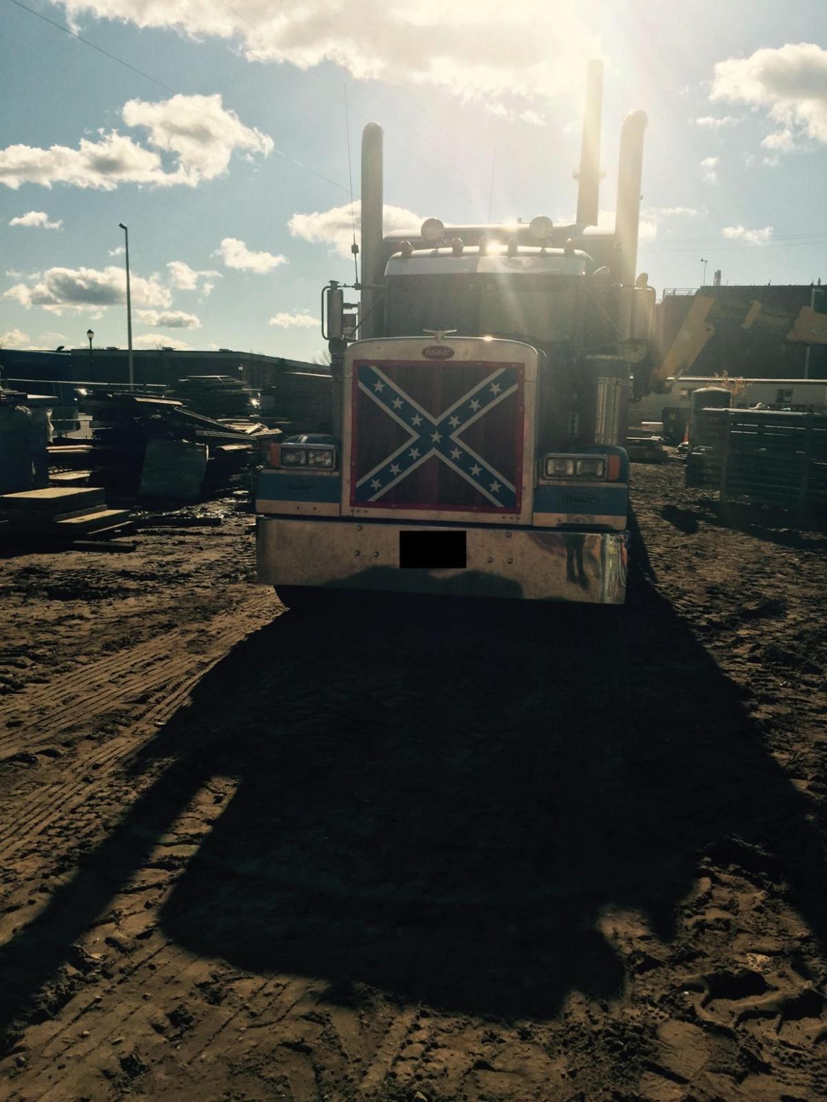 Confederate flag truck