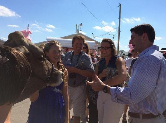 Paul Ryan at fair