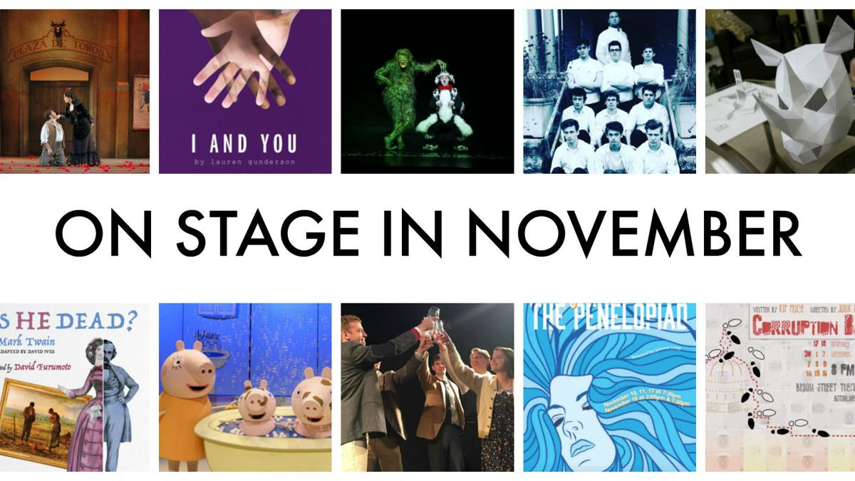 A dozen shows not to miss in November