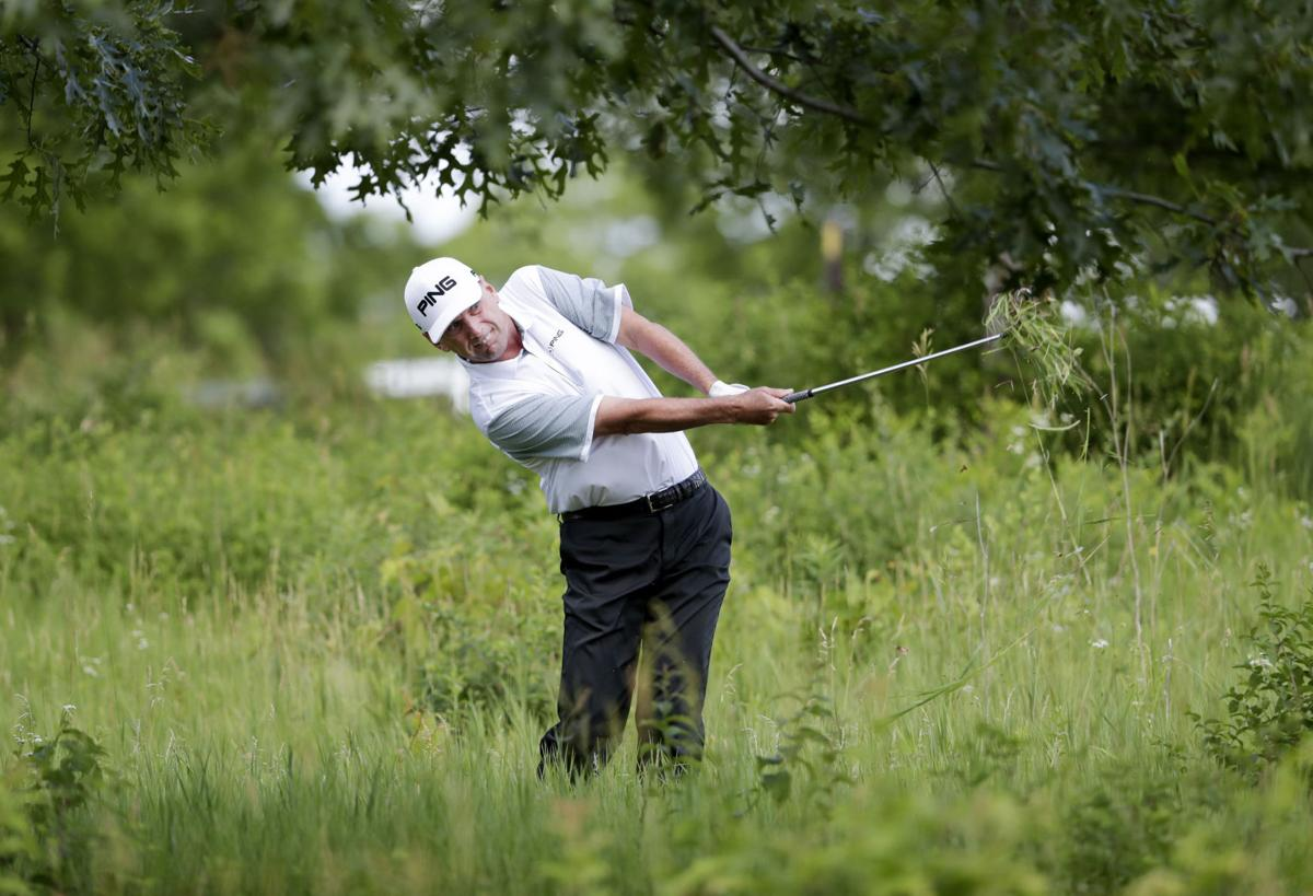 photos golfers compete on second day of american family insurance