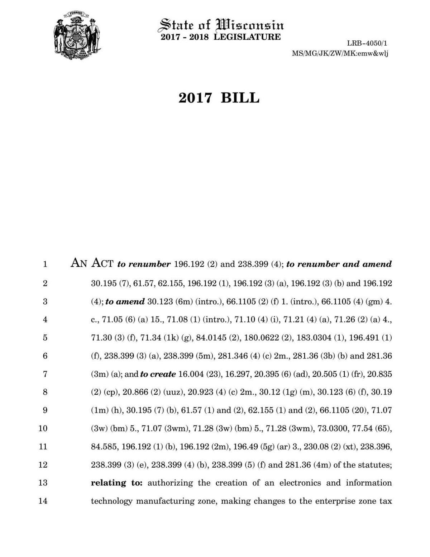 Foxconn bill draft