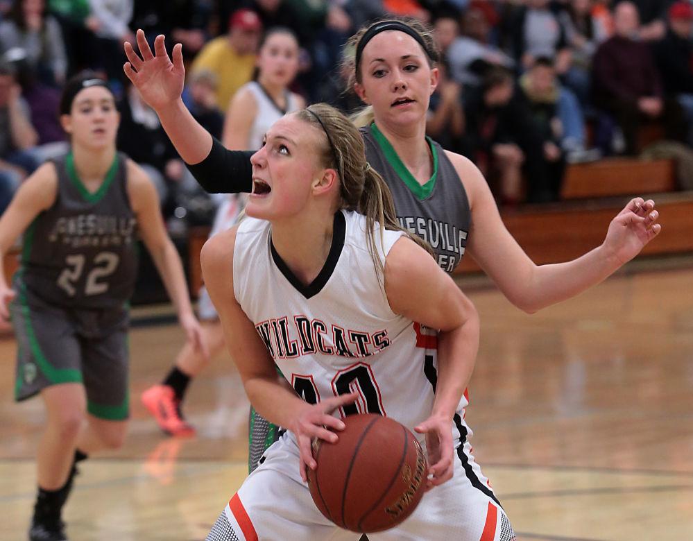 Grace Mueller, Verona girls basketball vs. Janesville Parker