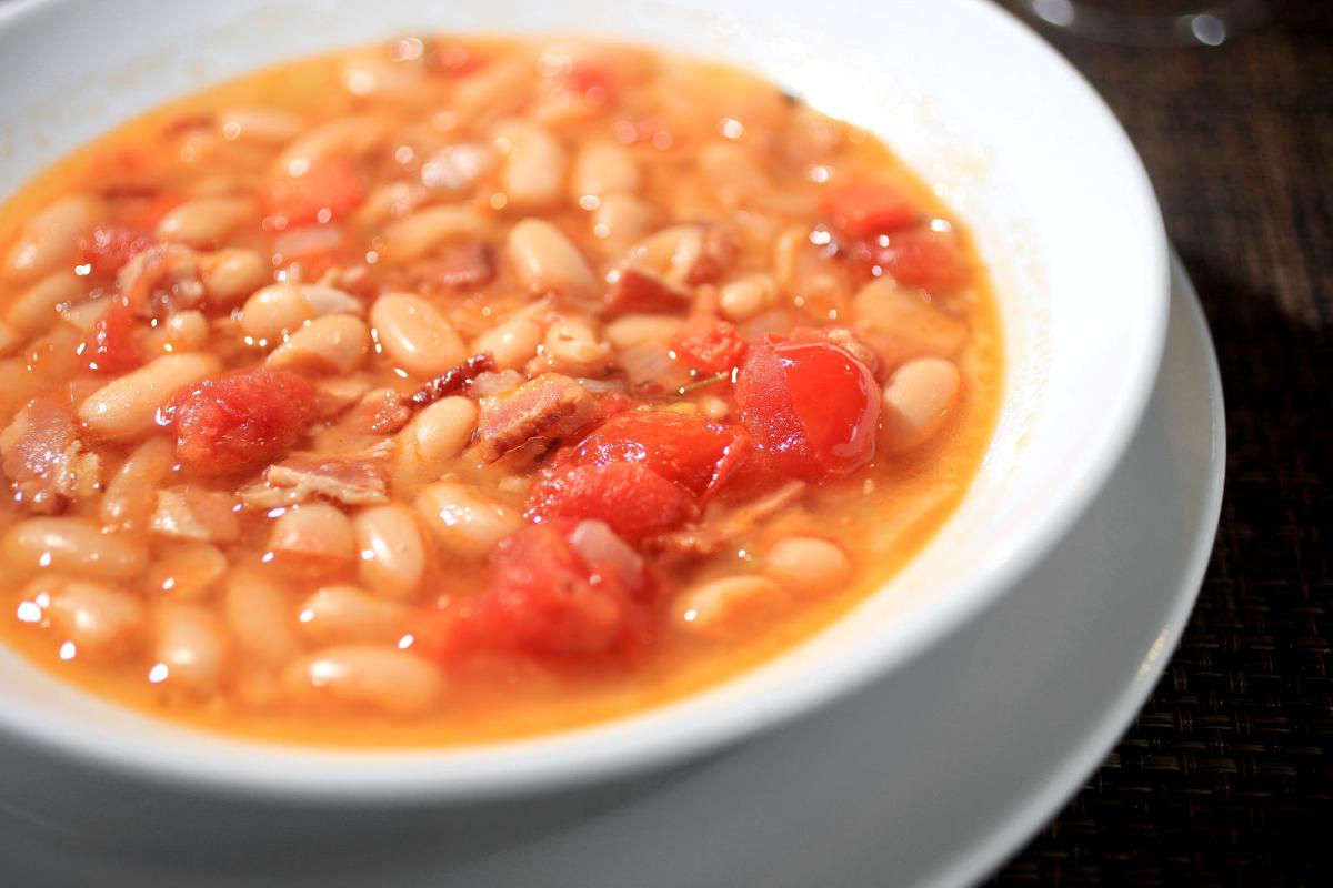 Bean and bacon soup from Steenbock's on Orchard