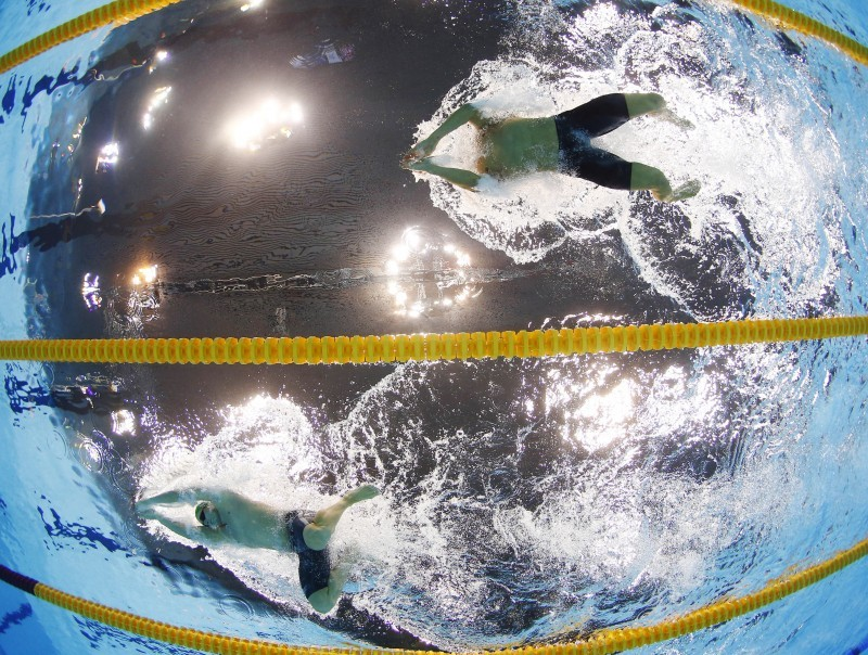 london olympics swimming underwater video