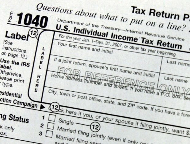 Income Taxes, Tax Form, AP File Photo (copy) (copy) (