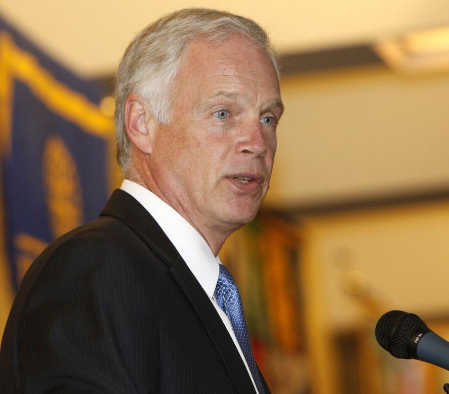 Ron Johnson talks in Madison (copy)