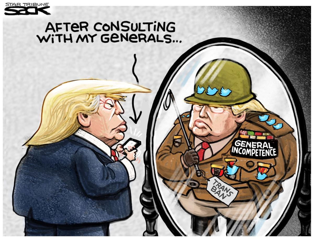 Trump Consults With His Generals On Transgender Ban In