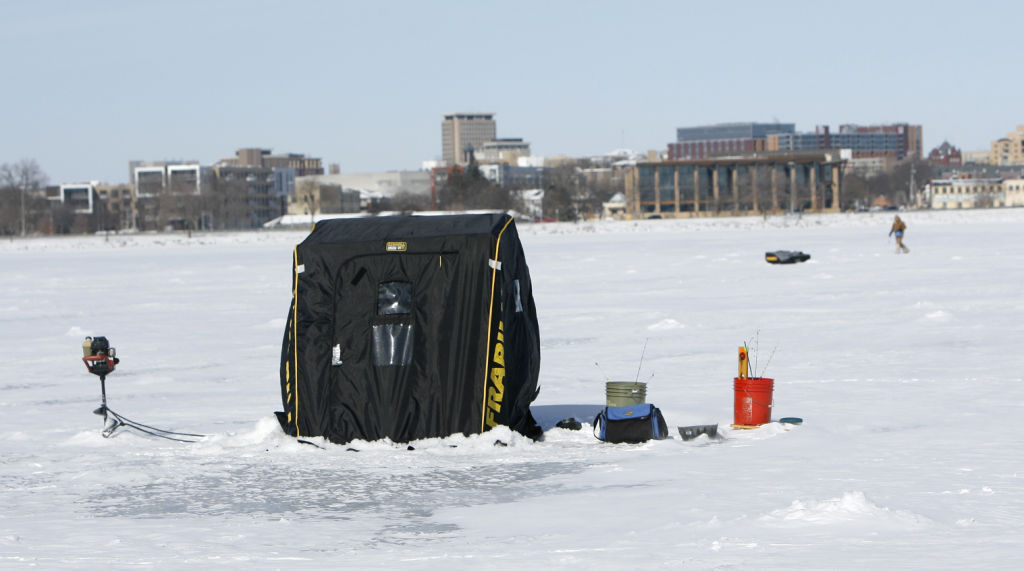 Madison in 100 objects ice shacks madison in 100 for Wi fishing regs