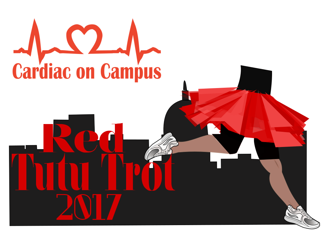 Red Tutu Trot Logo CARDIAC ON CAMPUS