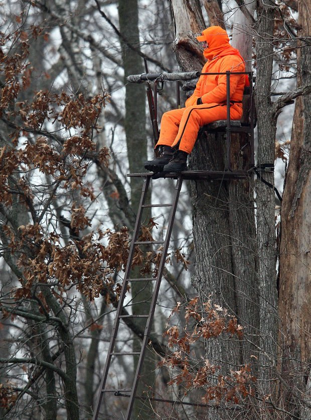 Deer hunter in tree stand (copy)