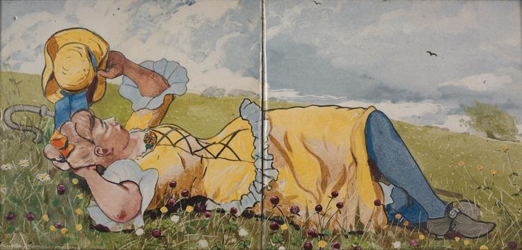 Resting Shepherdess  CHAZEN MUSEUM OF ART
