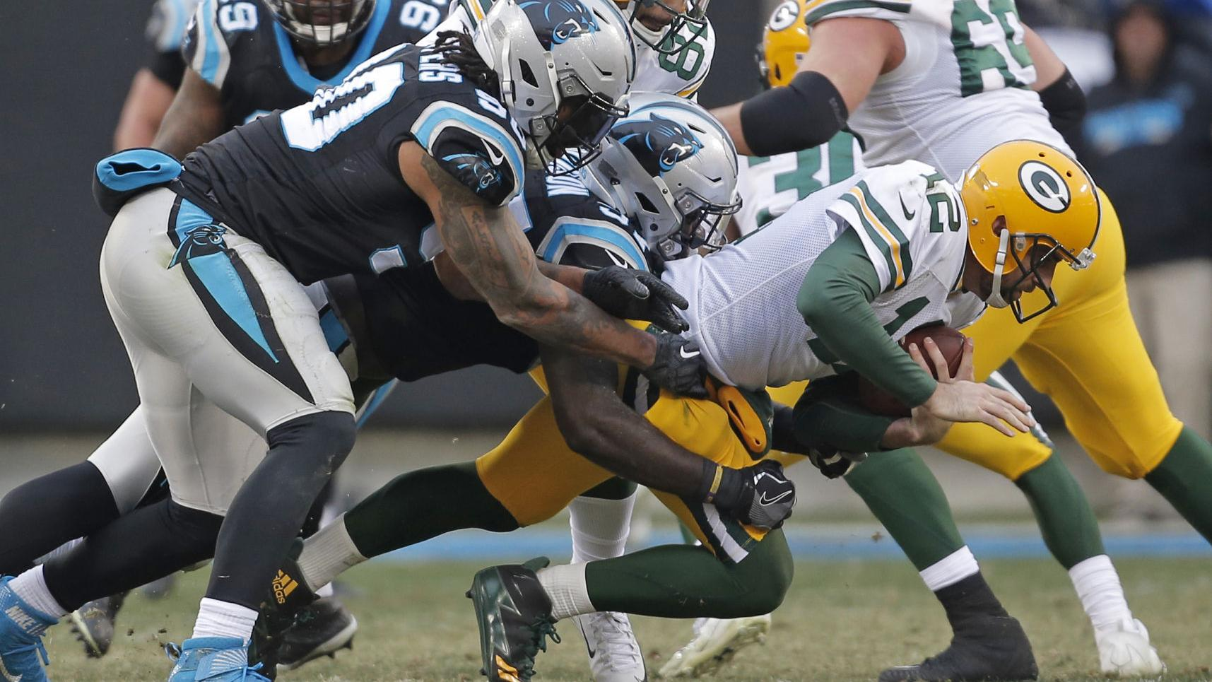 Aaron Rodgers comes up short in return as Green Bay falls to Carolina Panthers 31-24
