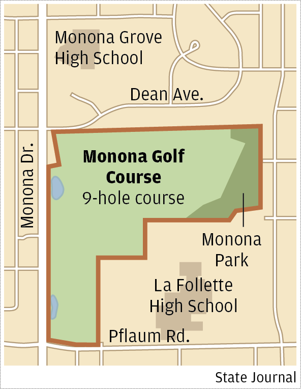 Monona Golf Course map