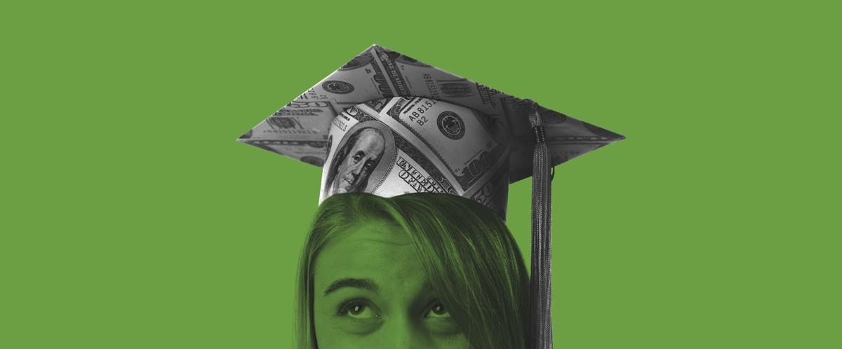 Student loan debt concept image