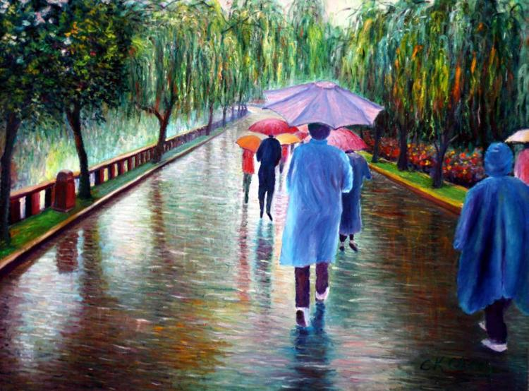 Walking in the Rain by Dr. C.K. CHANG