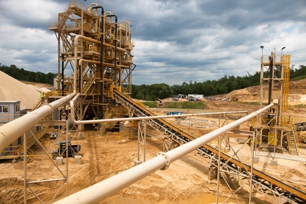 Frac sand plant in Trempealeau County