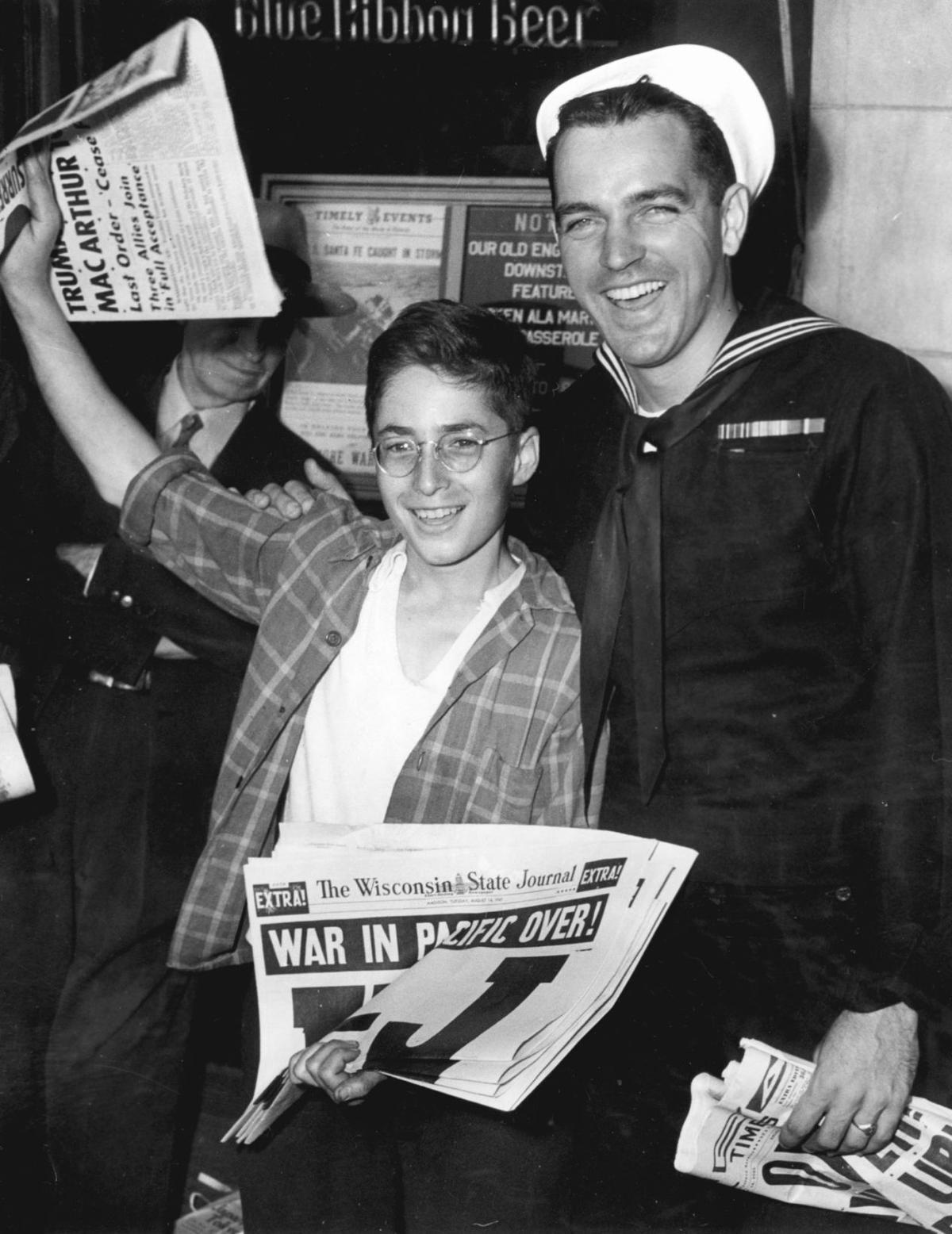 V-J Day celebrations in Madison, 1945