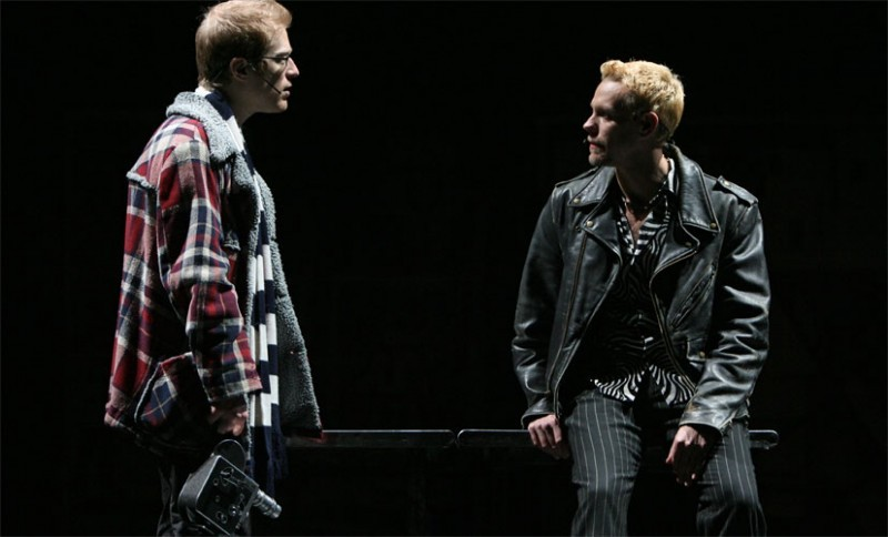 "Anthony Rapp and Adam Pascal in Broadway musical ""Rent"""