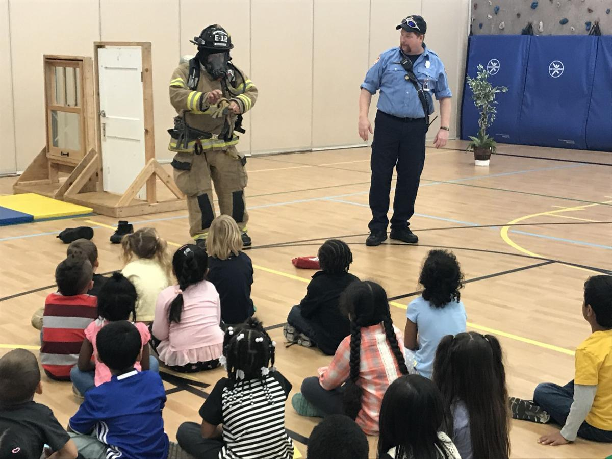 FIREFIGHTERS AT OLSON ELEMENTARY
