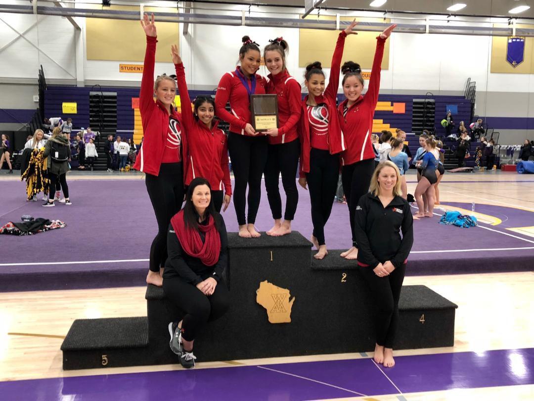 Prep sports photo: Sun Prairie gymnasts take second at Oconomowoc Invitational