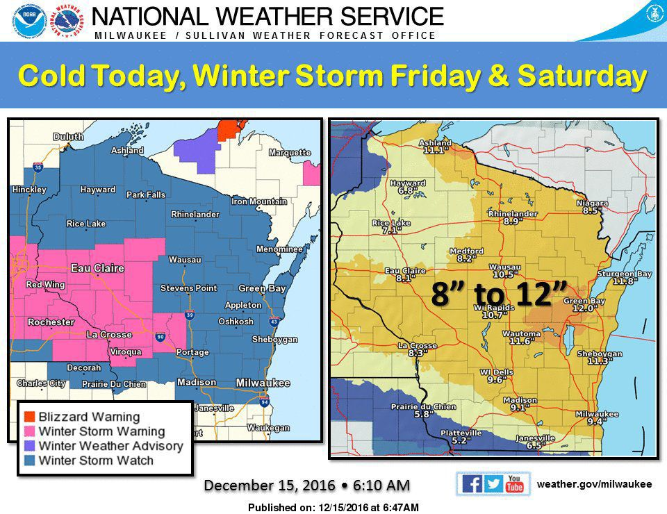 Bitter Cold Thursday, Heavy Snow Friday-Saturday, Bitter