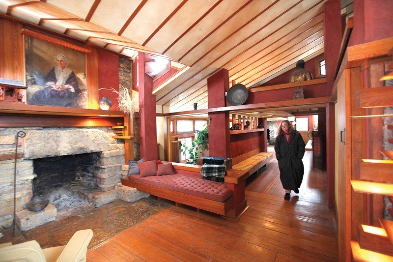 Marking a century for frank lloyd wright 39 s taliesin for The living room channel 10 tonight