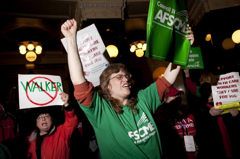 2011 protests against Scott Walker, Estelle Sweet