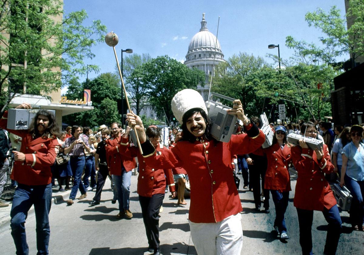 Leon Varjian boombox parade
