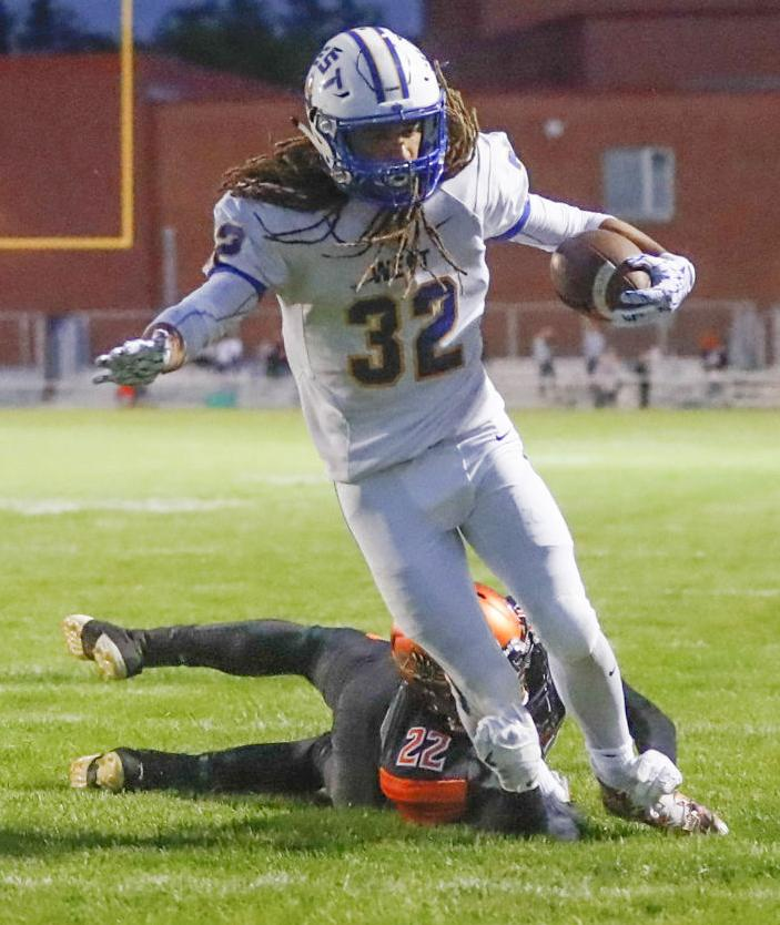 Prep football photo: Madison West's Jaden Stephens scores against Verona