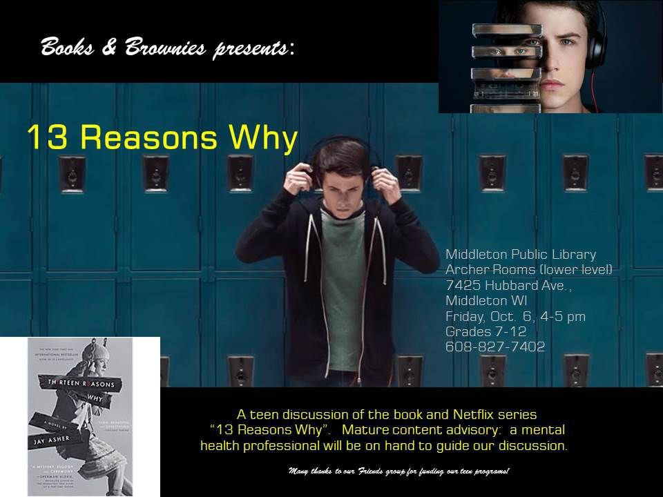 thirteen reasons why MIDDLETON PUBLIC LIBRARY