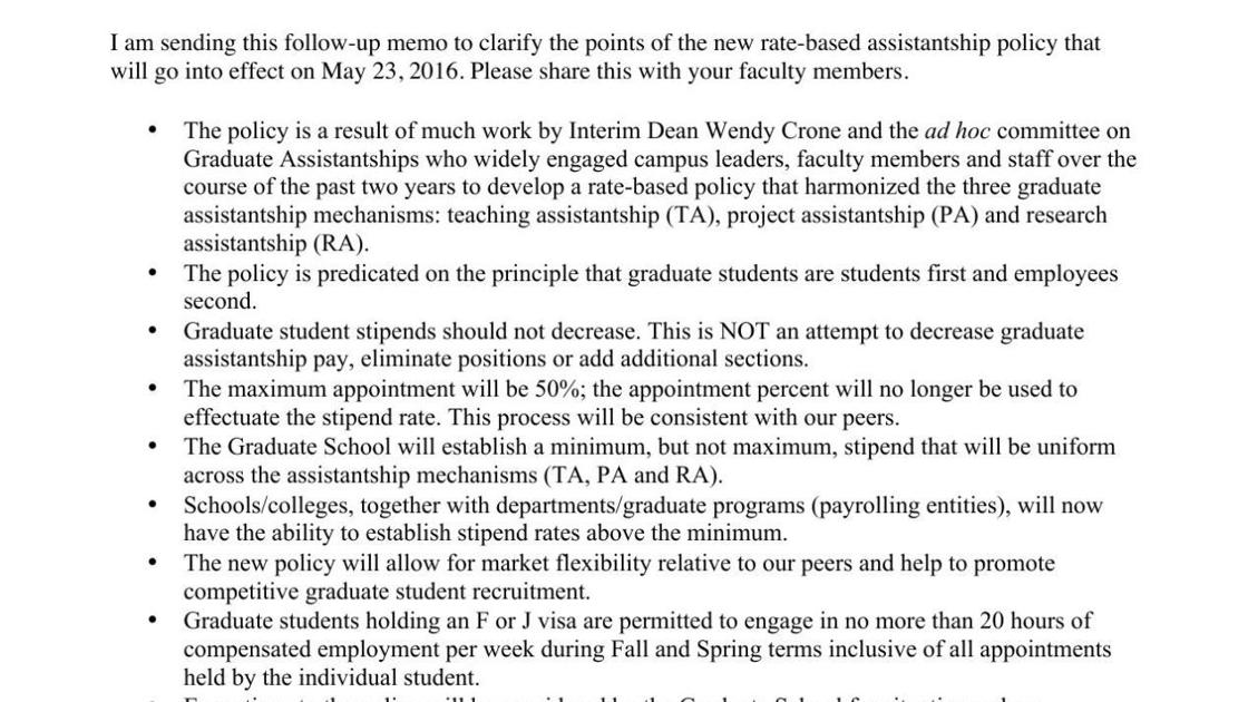 graduate assistantship essay Some of you may not know that i work as a graduate assistant in the office of graduate admissions so what does a graduate assistant do.