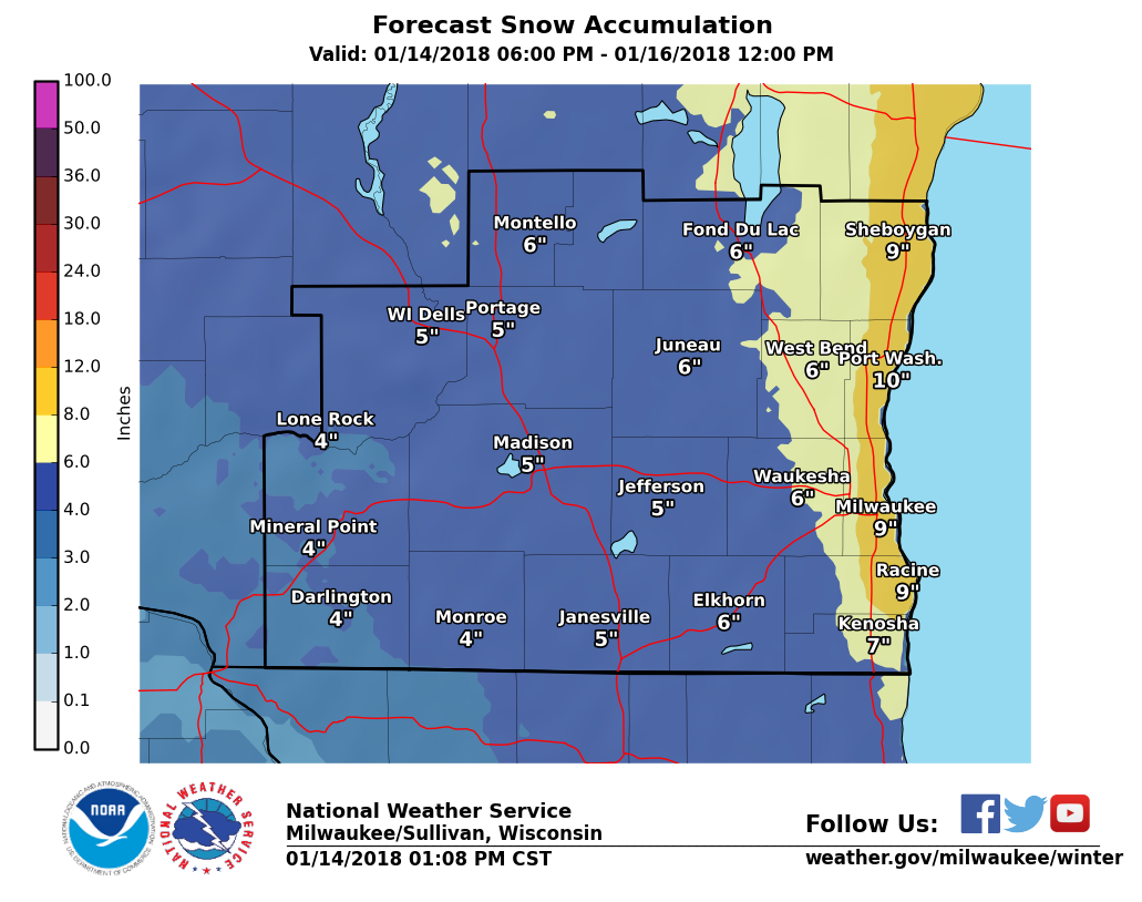 Winter Weather Advisory Issued For Southern Wisconsin As