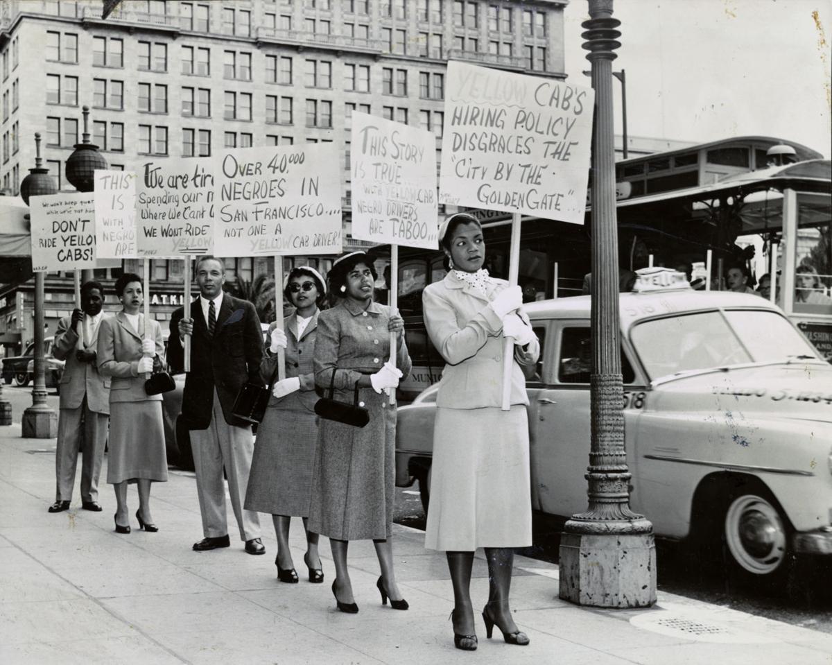 Hiring discrimination protest in 1955