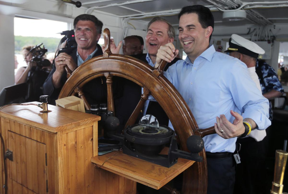Scott Walker on Lake Winnipesaukee