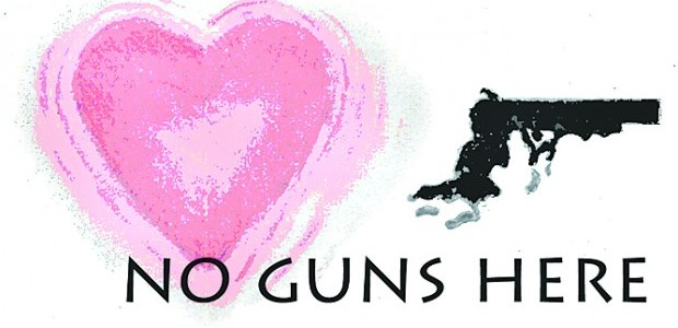 Love casts out fear, no guns hear