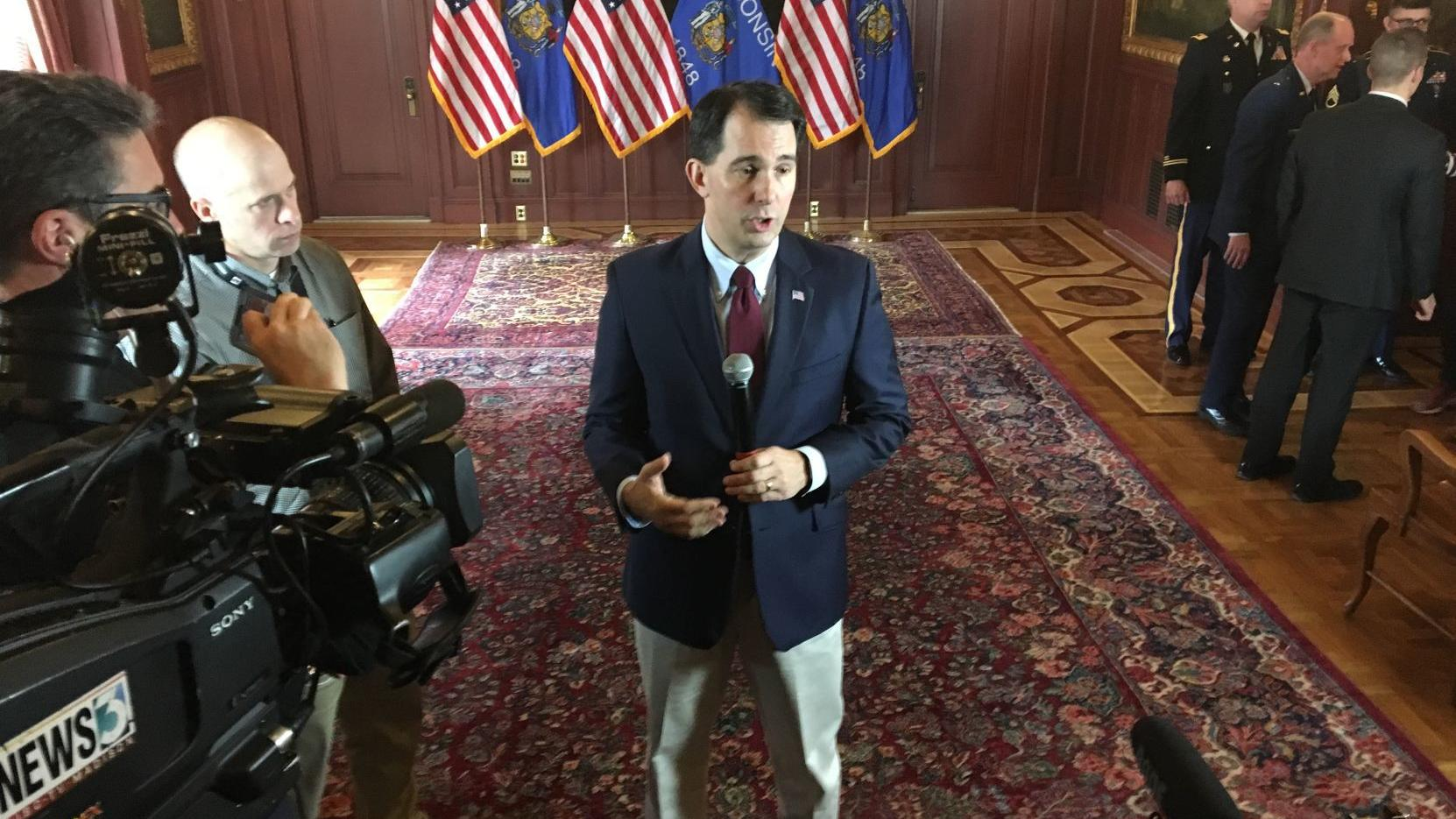 Scott Walker's campaign stump speech challenged in interview