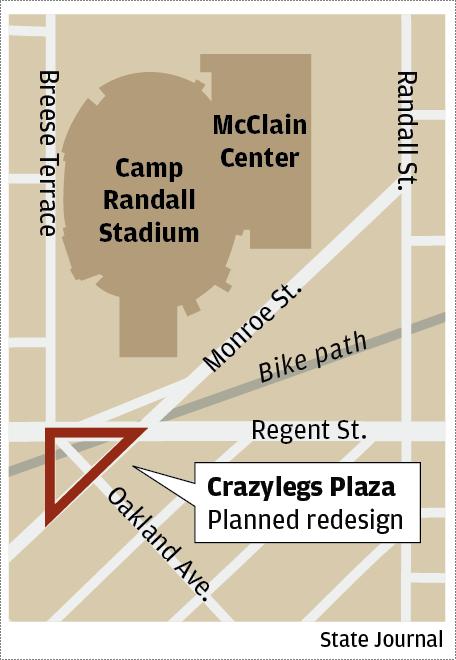 Crazylegs plaza map