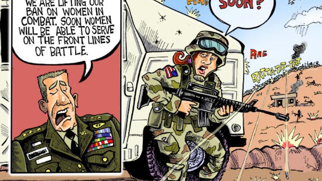 Hands Cartoon: Women in Combat | | host.madison.com