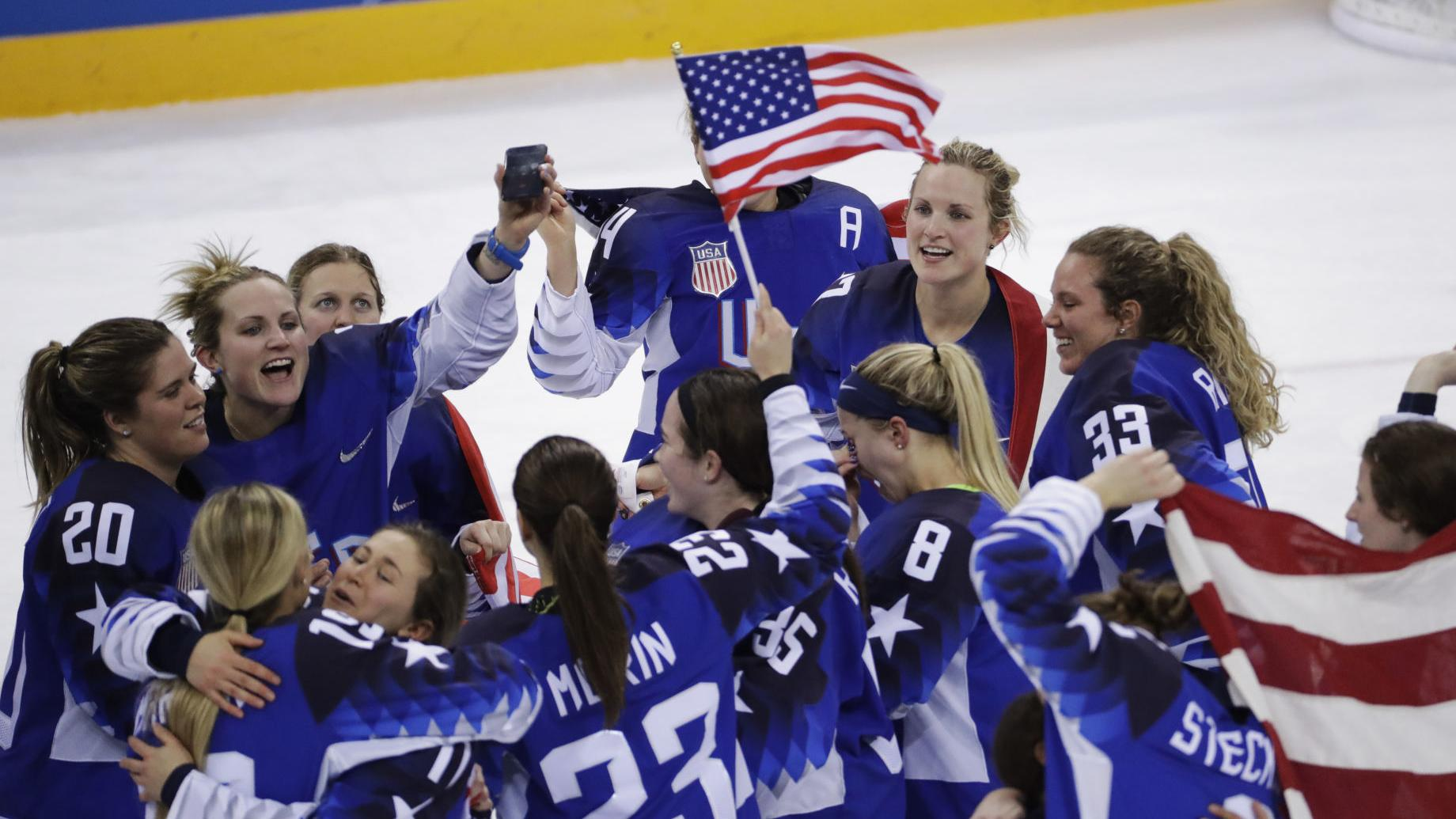 U.S. wins a shootout thriller in women's hockey, other results from overnight at the Olympics