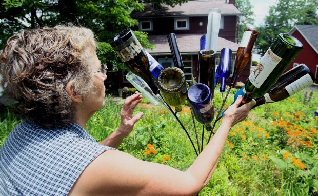 Looking at bottle tree