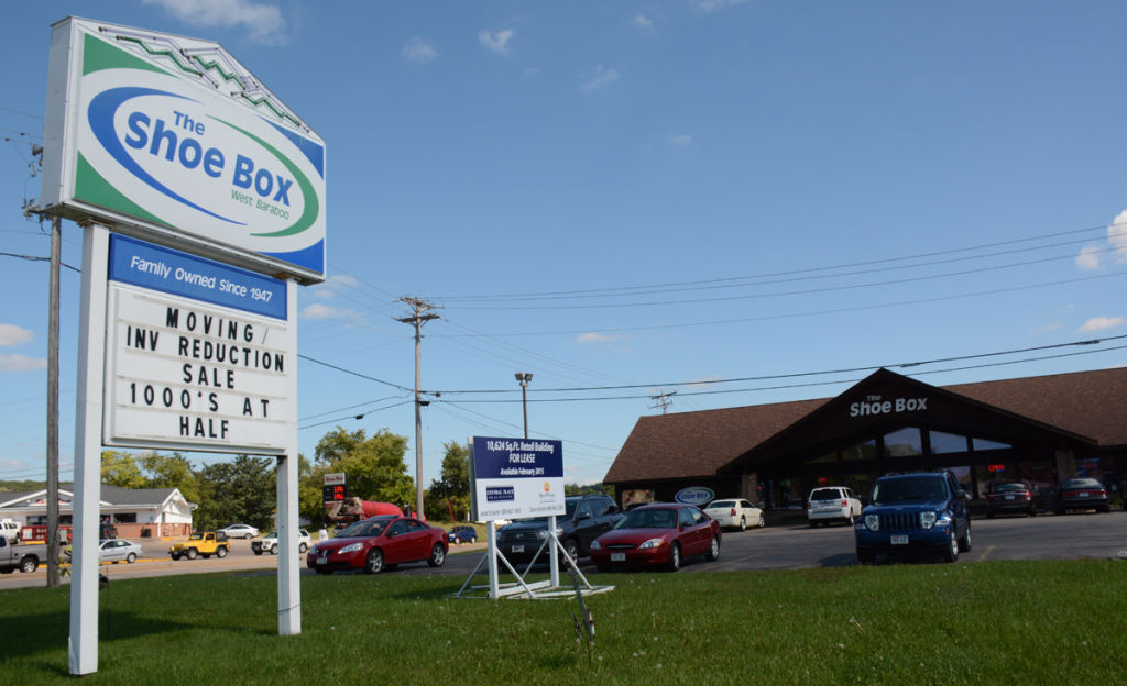 shoe box to baraboo store expand in black earth