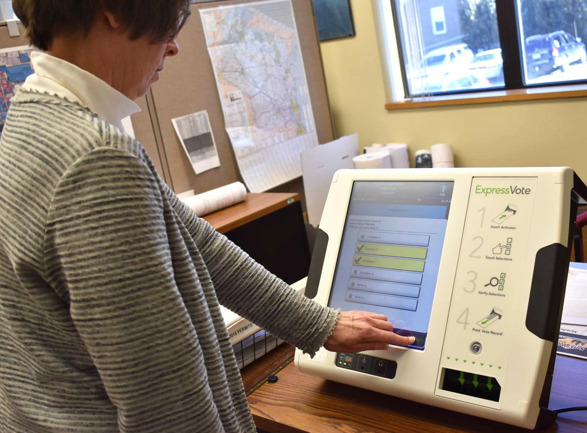 Voting machine tested in Portage